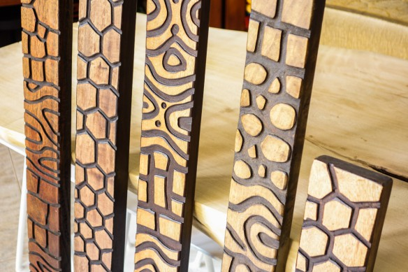 Decorative hanging carved wood panels Goodies African